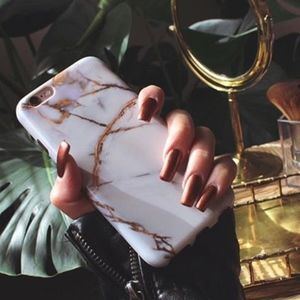 Accessories - NEW • Gold White Marble Stone iPhone 8 Plus